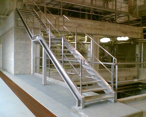 Escadarias de aço inoxidável