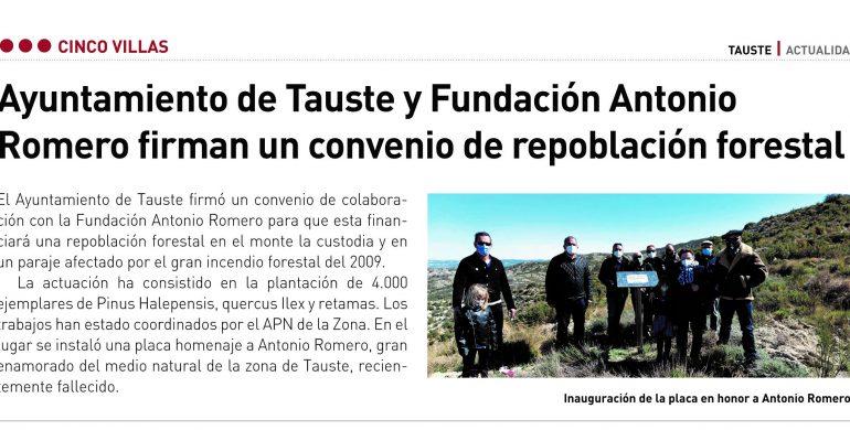 La Fundación Antonio Romero reforesta Tauste